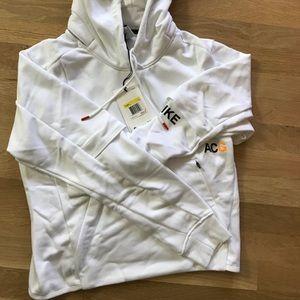 Nikelab nike acg pullover white hoodie